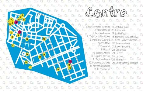 plano tiendas CENTRO valencia