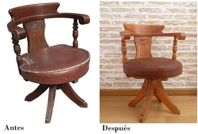 sillas antes después